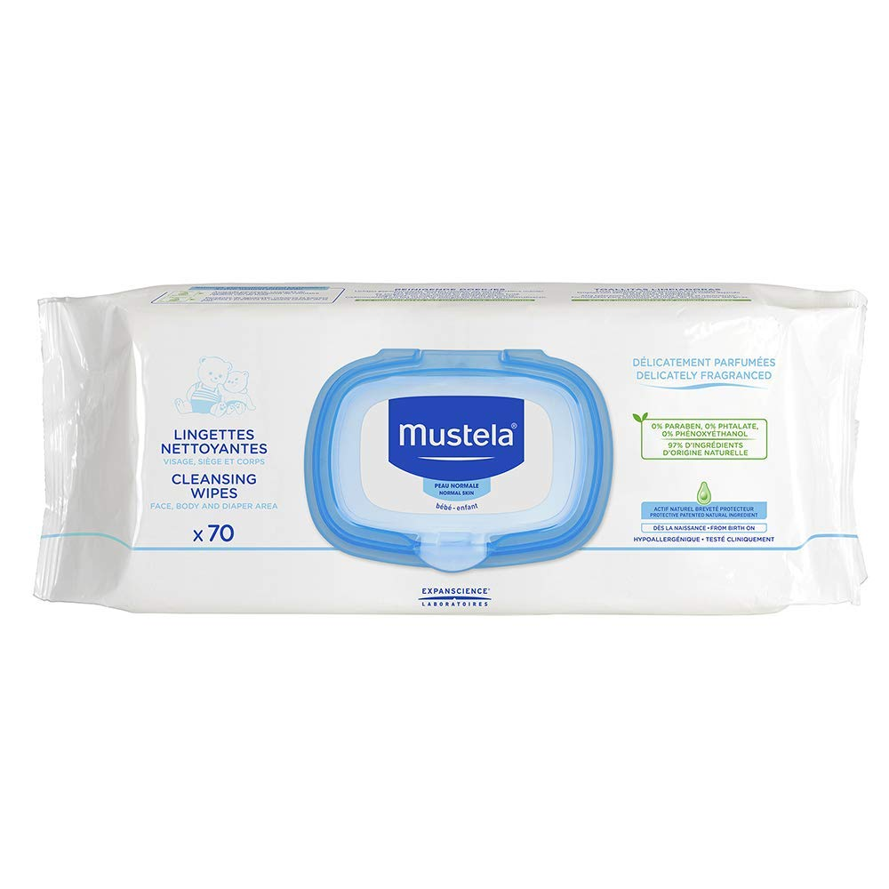 Mustela オンライン限定商品 - Baby Diaper 新発売 Cleansing Wipes Natural with 70 ct Avoca