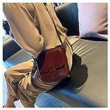 Bolsas de Hombro Bolsa de Crossbody Puro Casual Color Pequeña Bolsa de Hombro Cuadrado de Las señoras de Bolso del Mensajero del Bolso (Negro) SHIYUE (Color : Wine Red)