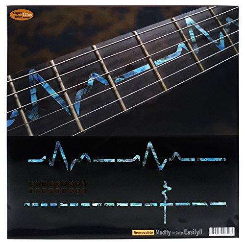 Marcadores de diapasón incrustaciones adhesivo adhesivos para guitarra–EKG line-ab