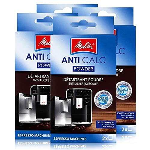 Melitta Anticalc Espresso Machines Entkalker Pulver 2x40g (4er Pack)