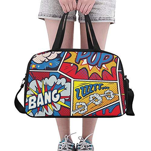 Training Seesack Retro Pop Art Comic Shout Nahtlose Yoga Gym Totes Fitness Handtaschen Seesäcke Schuhbeutel Für Sportgepäck Damen Outdoor Damen Handtaschen