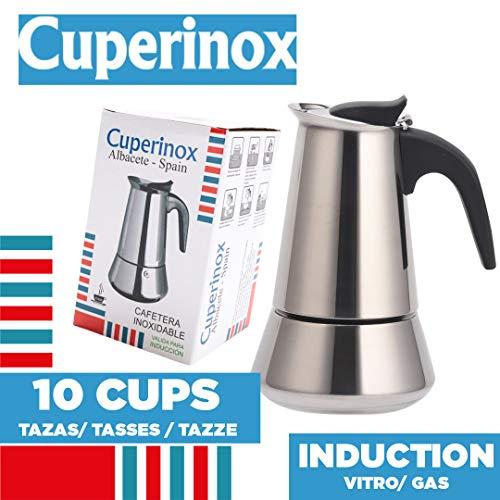 CUPERINOX Cafetière à Induction Italienne 10 Tasses | à Expresso à Induction pour plaques de...