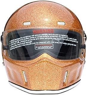 CRG Sports ATV Motocross Motorcycle Scooter Full-Face Fiberglass Helmet DOT Certified ATV-1 - Parent (Large, Gold)