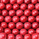 Gumballs for Gumball Machine - 1 Inch Large Gumballs - Cherry Flavored Bubble Gum Red Gumballs - Kids Gum - Bulk Gum Balls 2 Lb