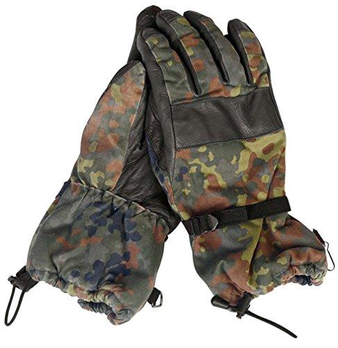 BW Handschuhe Leder Flecktarn Winter