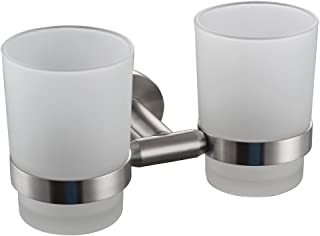 XVL Wall-Mounted Toothbrush Holder Double Holder, Brushed G1005