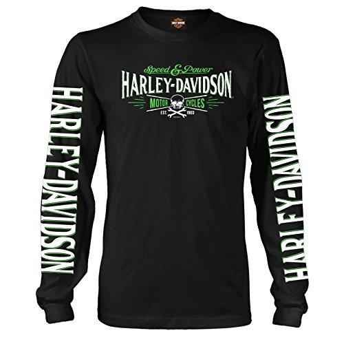 Harley-Davidson Militar - Camiseta de manga larga para hombre - Ramstein AB | Villain - negro - Medium