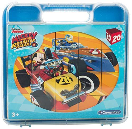 Brandsseller Kinder Würfel Puzzle - 6 Motive - 20 Teile - mit Motiven im Stil von Disney (ca.20x16 cm, Mickey Roadster Racers)