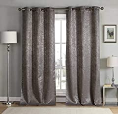 """Measures 38x84"""" (2 Pieces) Includes 2 window panel curtains Insulated - Help your curtain keep the heat and cold out polyester fabric with natural blackout features, thick and heavy duty make the draperies more durable and long lasting, burlap effect..."""