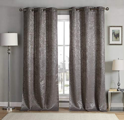Duck River Textiles Kensie Maddie Blackout Curtains, W38 X L84, Mouse (Pole Top)