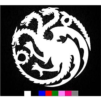 Game of Thrones House Emblem Lannister Lion Vinyl Die Cut Decal Sticker 6.00 Black