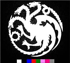 Game of Thrones House Targaryen Sigil Vinyl Sticker Decal HBO Logo Car Truck Mac (5.5