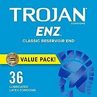 Trojan Condom ENZ Lubricated, 36 Count by Trojan