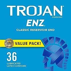 professional Smooth condoms lubricated with Trojan ENZ Premium – 36 pcs