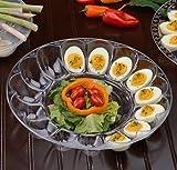 Paquete de 2 bandejas de plástico duro para huevos con forma de huevo, cada bandeja tiene capacidad para 15 huevos (30 cm)