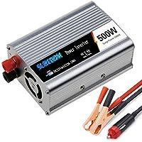 自動純粋な正弦波インバータ500W / 600W / 800W / 1000W / 1200W / 1500W / 2000W電圧コンバータDC 12V / 24V AC 110V / 220V / 230V / 240Vコンバータ - ノートパソコン、パッド、電話のためのソケットとUSBポートが付いているインバーターコンバータタブレット、コンソール