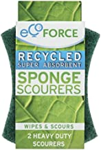 Ecoforce Twin Kitchen Sponge Scourer, 1 Pack of 2 Pieces