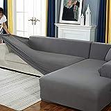 JHLD Alto Elasticizzato Fodere Copridivani, Universale Chaise Longue Sofa Copridivano Spandex Silicone Antiscivolo L Adatto per Copridivano Cane Gatto-C-X-Large + X-Large