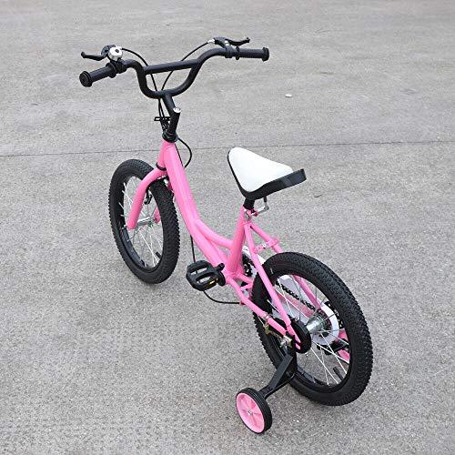 Aohuada - Bicicletta per bambini, 16 pollici, unisex, colore: rosa
