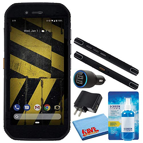 Caterpillar CAT S42 Black 5.5  32GB + 3GB RAM 4G LTE Dual-SIM IP68 Rugged Smartphone (GSM Only, No CDMA) Bundle with Deluxe LCD Screen Cleaning Kit + Dual Port USB Car Charger + More