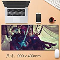 大型 ニーア オートマタ NieR:Automata アニメ mouse pad マウスパッド ゲーミング マウスパッド 耐久性 滑り止め ゲームオフィステーブルマット 900x400x4mm