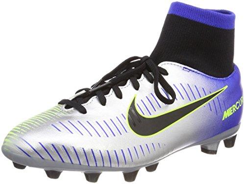 Nike Jr Mercurial Vctry6 DF NJR Agp, Scarpe da Fitness Unisex-Bambini, Multicolore (Racer Blue/Black-CHR 407), 35.5 EU
