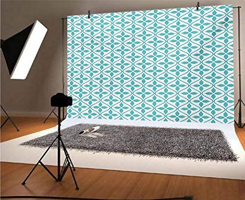 Contemporary 20x10 FT Vinyl Photography Background Backdrops,Vertical Wavy Lines with Flowers Fresh Spring Season Themed Tile Background for Photo Backdrop Studio Props Photo Backdrop Wall