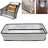 Attic Stairs Insulation Cover for Pull Down Stair, Attic Tent 25' x 54' x 11', R-Value 15.3, Extra Thick Fireproof Attic Stairway Insulator, Easy Installation