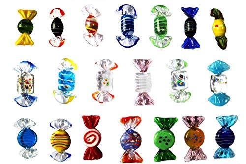 Caramella di vetro di colore di 20PCS, Natale, ornamento di cerimonia nuziale Candy.Glittering e traslucido, cristallino, lo lasciate l'amore!