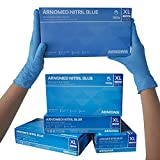 ARNOMED Nitril Einweghandschuhe XL, puderfrei, latexfrei, 100 Stück/Box, Einmalhandschuhe, Blaue...