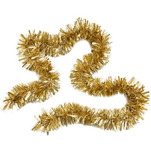 LIOOBO guirnalda de oropel guirnalda de árbol de navidad decoraciones adornos dorados