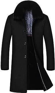 ARTFFEL Mens Warm Fleece Hooded Winter Trench Coat Quilted Jacket Parka Coat Outerwear