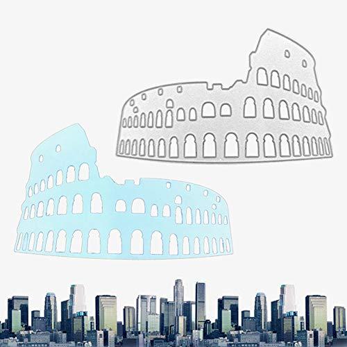 Feli546Bruce Troquelado, Edificio De Roma Troquelado DIY Scrapbooking Tarjeta De Papel álbum En Relieve Plantilla