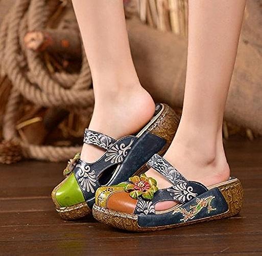 Qingchunhuangtang@ Baotou à Fond épais Chaussons, Sandales, Sandales Et des Sandales