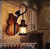 Vela Apliques de pared Iluminación industrial vintage Lámpara de pared Apliques de jaula de metal rústico Aplique de pared interior para el hogar Aplique de iluminación retro Aplique Bronce claro