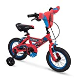 "Huffy Marvel Spider-Man Kid Bike Quick Connect Assembly, Handlebar Plaque & Training Wheels, 16"" Wheel, Red"