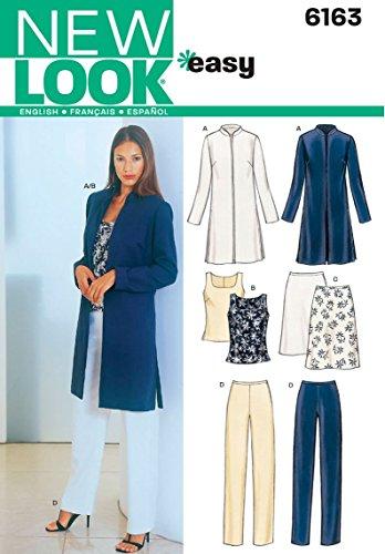 New Look 6163 - Patrones de Costura para Conjunto de Chaqueta, Blusa, Falta y pantalón de Mujer (Tallas 36-46)