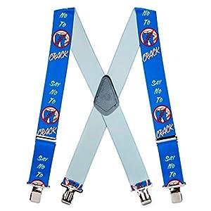 SuspenderStore Men's Say No To Plumber's Crack Clip-End Novelty Suspenders