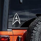 Vool ST Trek Federation Logo Vinyl Decal - White Window Sticker White 6'