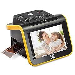Kodak Slide N SCAN Scanners cinématographiques et diapositives avec grand écran LCD 5 pouces, conversion de couleurs et S/S négatifs et diapositives 35mm, 126, 110 négatifs et diapositives en haute résolution 22MP photos numériques JPEG