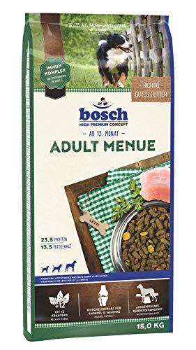 bosch HPC Adult Menue | Kroketten-Mix für ausgewachsene Hunde aller Rassen, 15 kg