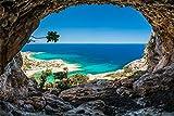 Insel Strand Beach Meer Höhle XXL Wandbild Foto Poster