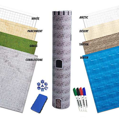 RPG Battle Game Mat - 4 Pack Dry Erase Double sided 36