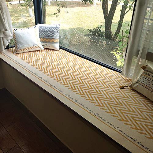 ZTMN raamkussen in boekvorm, waterdicht, antislip, waterdicht, met matte verdikking, kussens voor banken en vensterbanken mat-d 60 x 40 cm