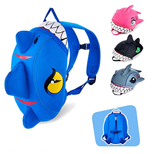 Crazy Safety   Dinosaurier-Rucksack für Mädchen und Jungen — Dieser Kleinkind Rucksack ist die ideale Wahl für die Kita, Kindergarten & Reisen. Lustige Dino & Hai Design