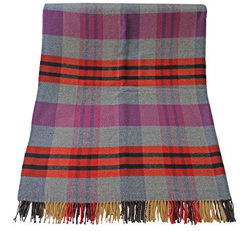 Rotfuchs Couverture couverture laine couverture plaid couverture plaid lilas gris 100% laine (Mérinos)