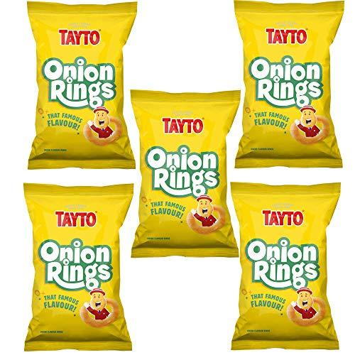 Tayto 5 Packs Onion Rings Crisps (5 x 17g Bags)