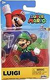 Nintendo Super Mario Running Luigi 2.5' Figure w/ Stand