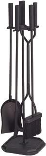Minuteman International Neoclassic 5-piece Fireplace Tool Set, Black, Square Base