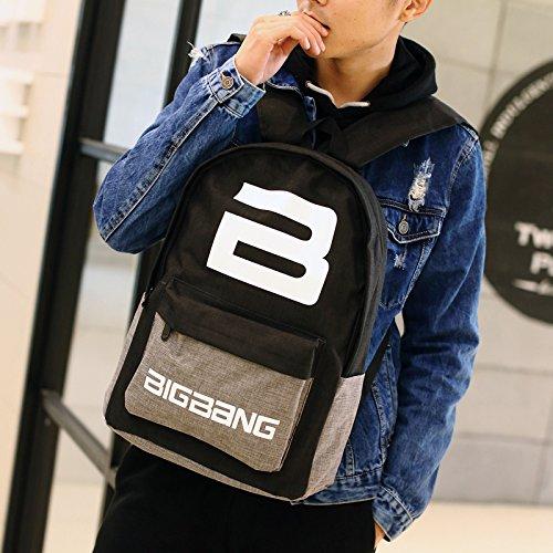 Sac à dos en toile de sac de voyage ordinateur jeunes épaules en Corée du Sud lycéens Gap B